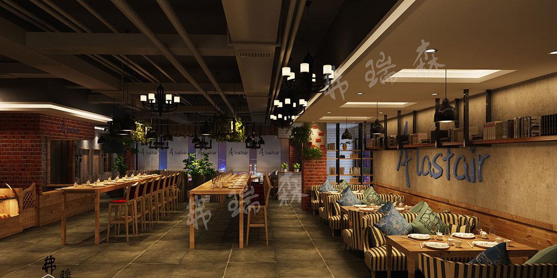自助餐厅就餐区设计效果图