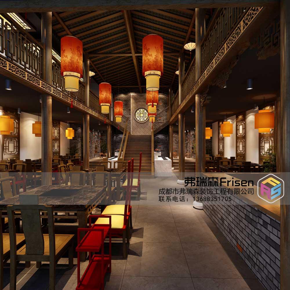 火锅店一楼1成图