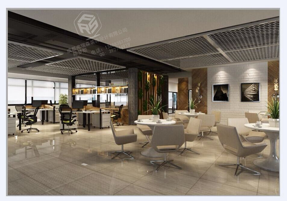 都江堰办公室的装修效果实景图