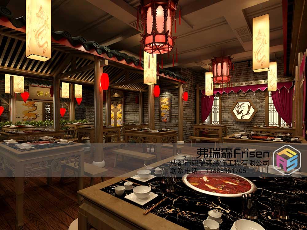 火锅店大厅设计效果图
