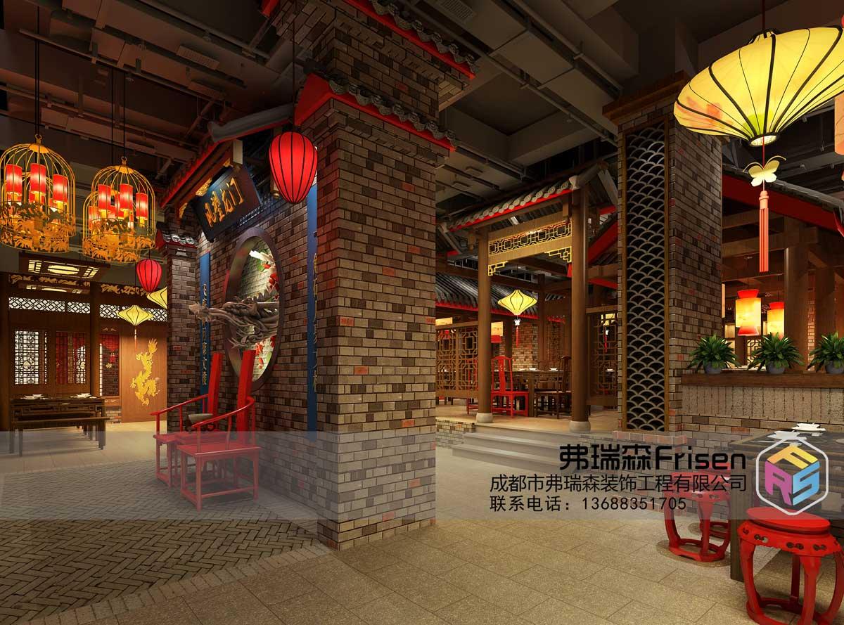 德阳火锅店装修效果图——前厅实景展示