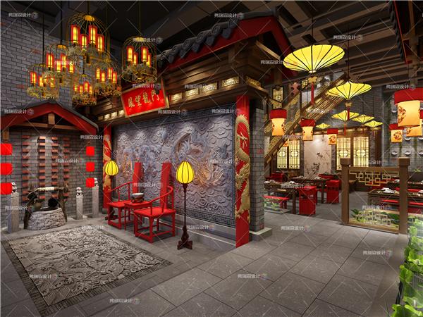 最新的火锅店餐厅设计效果图
