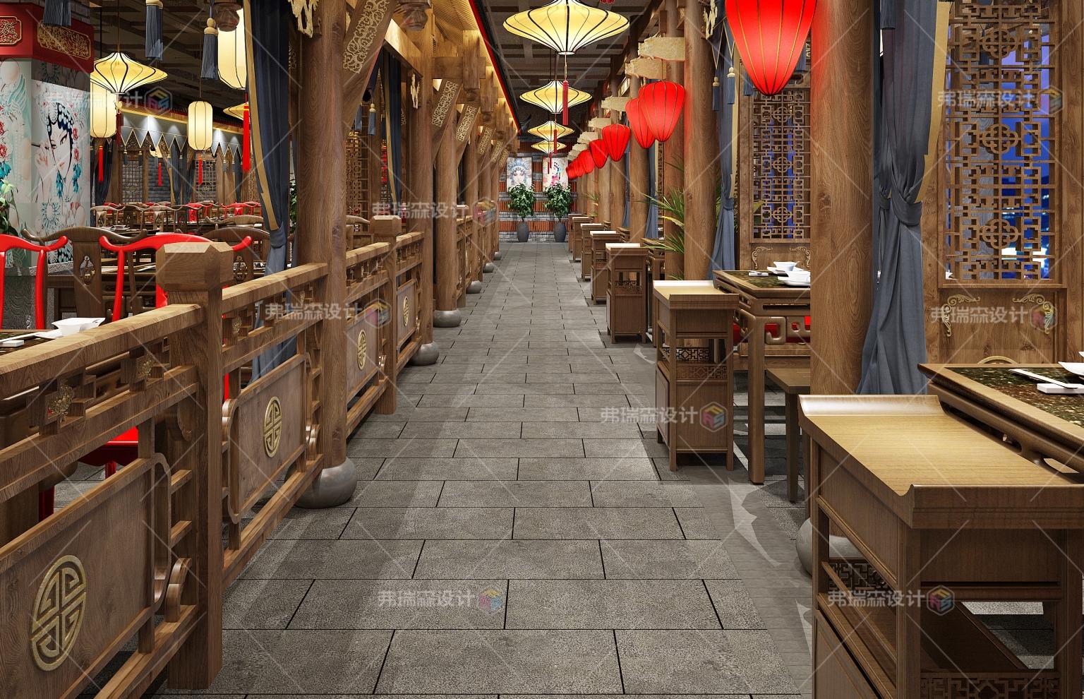 餐厅走道装修效果图