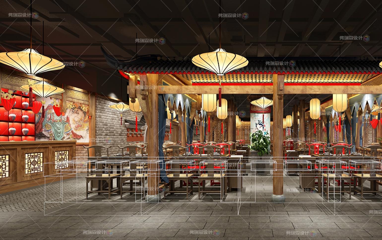 餐厅大堂设计效果图