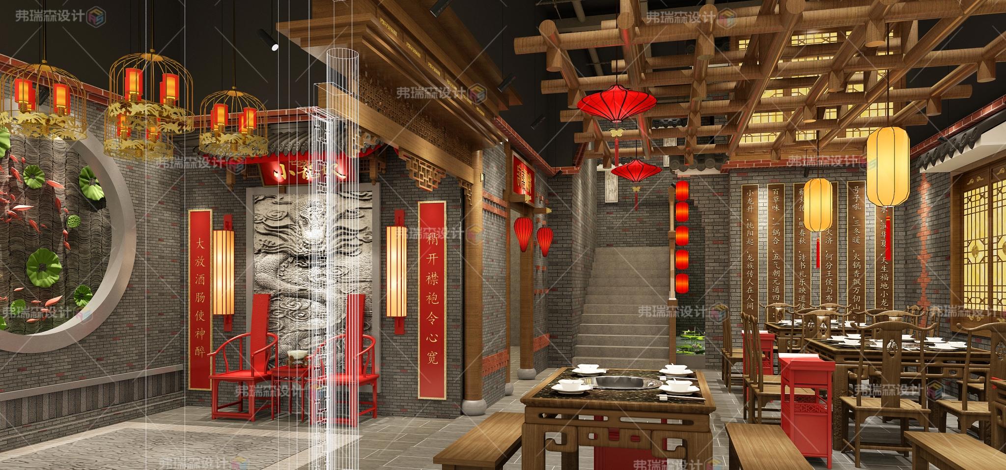 中餐厅大堂装修效果图