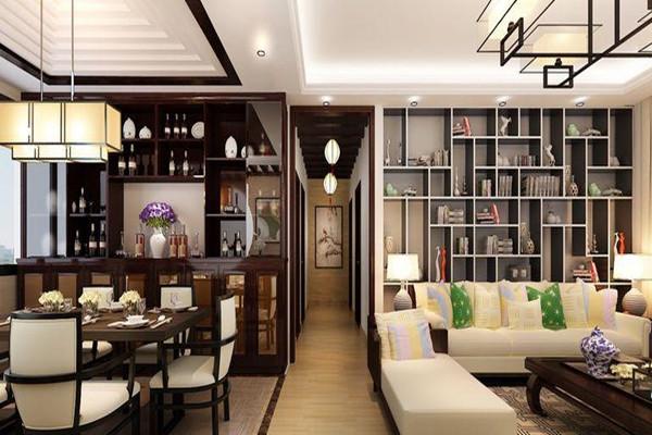 餐厅酒柜装修中式风格