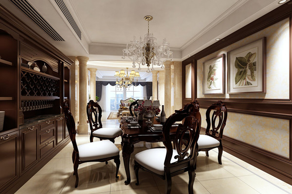 餐厅酒柜装修古典欧式风格