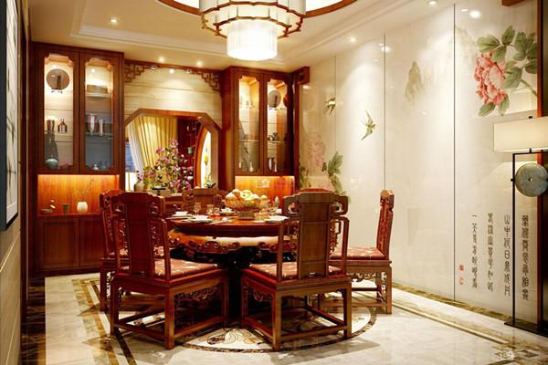 中式专业装修效果图中餐厅机械设计制造工程及其自动化国风图片