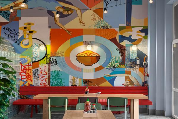餐厅通过装饰画装饰设计案例解析